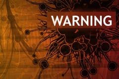 Warnende Sicherheitswarnung Stockfotografie