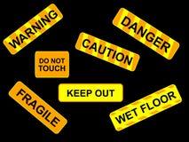 Warnende signes Abbildung Stockbild
