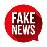 Warnende Spracheblase der gefälschten Nachrichten lizenzfreie abbildung