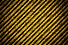 Warnende Streifenschablone Stockfoto