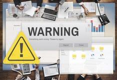 Warnende Unfall-Vorsicht-gefährliches Hilfskonzept Stockbild