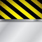 Warnender Streifenhintergrund Stockbilder