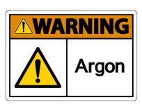 Warnendes Argon-Symbol-Zeichen-Isolat auf weißem Hintergrund, Vektor-Illustration stock abbildung