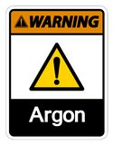 Warnendes Argon-Symbol-Zeichen-Isolat auf weißem Hintergrund, Vektor-Illustration vektor abbildung