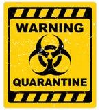 Warnendes Quarantänezeichen lizenzfreie abbildung