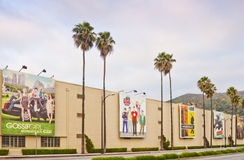 Warner Bros. De Studio van de film in Burbank, Californië stock afbeelding