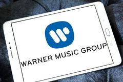 Warner Music Group-embleem Stock Afbeeldingen