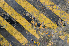 Warning. The warning color paint on the cement royalty free stock images