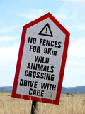 Warning. A warning at a safari area Royalty Free Stock Image