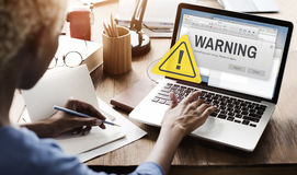 Warning Accident Caution Dangerous Help Concept Stock Images
