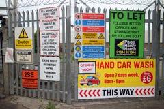 Warning and Advertising Signs