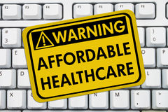 Warning of Affordable Healthcare Royalty Free Stock Images