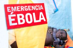Warning against Ebola Royalty Free Stock Images