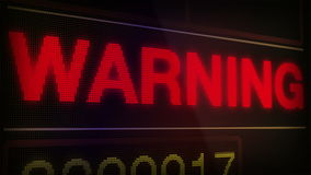 Warning Alert Signal stock video footage