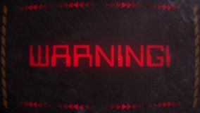 Warning Alert Signaling on an Old Monitor. Warning Alert Signaling on an Old Retro Monitor stock video footage