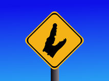 Warning Alligator sign Stock Photo