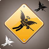 Warning! Armed Angel Ahead! Royalty Free Stock Photo