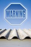 Warning asbestos concept Stock Photo