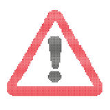 Warning attention sign,painted in the style of. Embroidery,in the Ukrainian style vector illustration