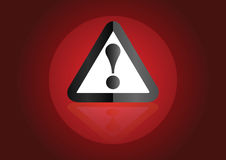 Warning background vector Stock Photography