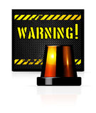 Warning background Stock Photography