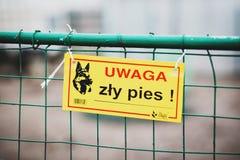 Warning! Bad dog! Stock Images