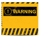 Warning banner Stock Image