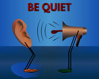 Warning: Be quiet. Vector cartoon. Warning: Be quiet. Vector illustration for your design vector illustration