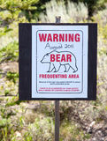 Warning Bear Sign Stock Image