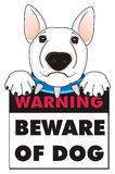 Warning beware of dog Stock Photo