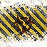 Warning bio hazard sign Royalty Free Stock Image