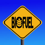 Warning Biofuel sign. With cereal symbol illustration Royalty Free Stock Images