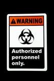 Warning Biohazard Royalty Free Stock Image
