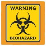 Warning Biohazard, poster design. Simple vector icon vector illustration