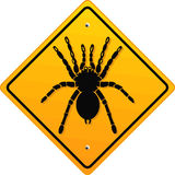 Warning bird spider Stock Photography