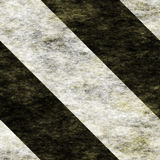 Warning Black&White Hazard Stripes Stock Photo