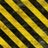 Warning Black&Yellow Hazard Sign Stock Photography