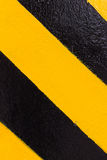 Warning black and yellow Royalty Free Stock Photography