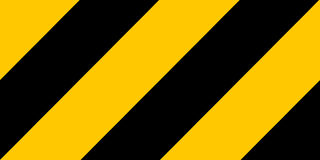 Warning black and yellow hazard Royalty Free Stock Photography