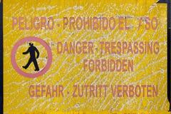 Warning board Royalty Free Stock Image