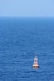 A warning buoy off the coast of Spain, Barcelona Royalty Free Stock Photography