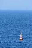 A warning buoy off the coast of Spain, Barcelona Royalty Free Stock Photography