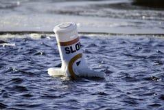 Warning buoy Royalty Free Stock Image