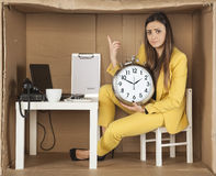 Warning from a businesswoman, time flows Stock Photography