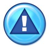 Warning Button. Blue Warning button Royalty Free Stock Image