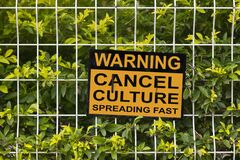 Free Warning, Cancel Culture Spreading Fast Stock Image - 213528221