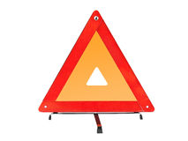 Warning car sign - red triangle Stock Image
