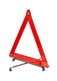 Warning car sign - red triangle Royalty Free Stock Photography