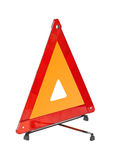 Warning car sign - red triangle Stock Photo