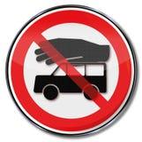 Warning car theft and burglary Royalty Free Stock Photography